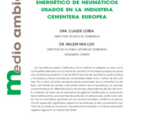 Aprovechamiento energético de neumáticos usados en la industria cementera europea