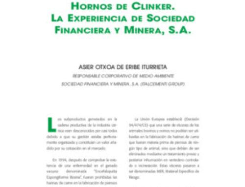 Eliminación de harinas animales en hornos de clínker. La experiencia de Sociedad Financiera y Minera, S.A.