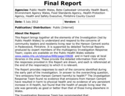 Hanson Cement Investigation: Final Report