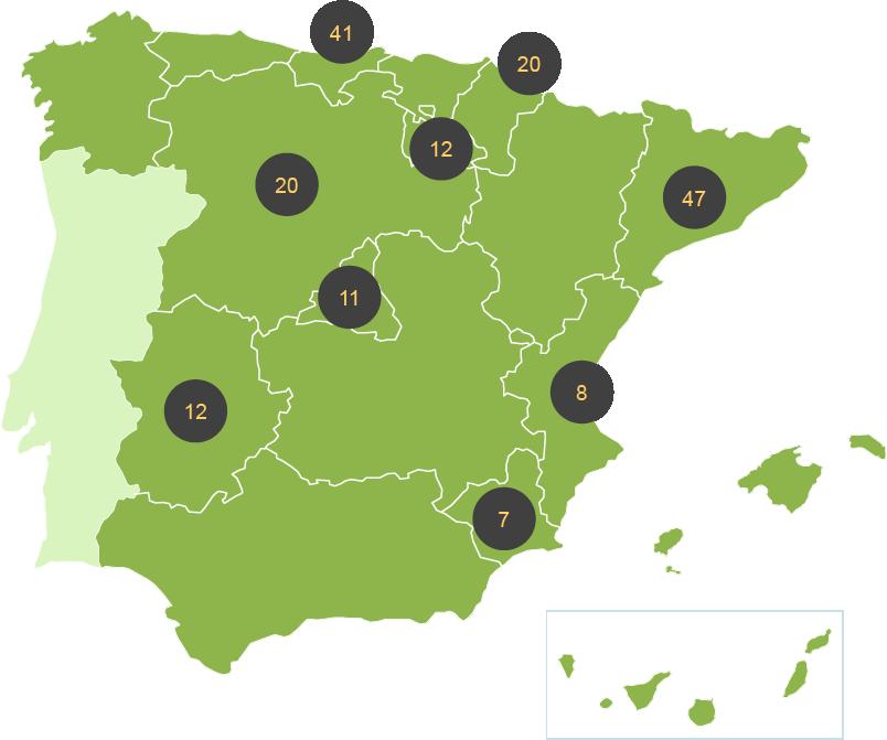 Comparativa de costes de vertido de residuos municipales (incluyendo impuestos) en las diferentes CCAA (€/t)
